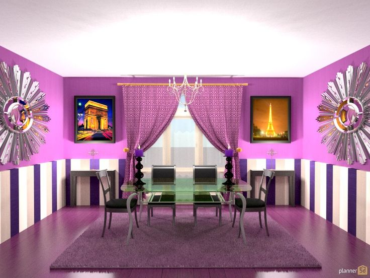 Planner 5D - Снимок экрана - Black and purple
