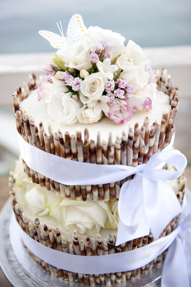White chocolate cheesecake Wedding Cake for a Spring Wedding