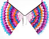 Fancy Dress Costume Bird Wings, Fairy Wings, Super Hero Wings, Toddler Pretend Play Accessory - The Freya Wings