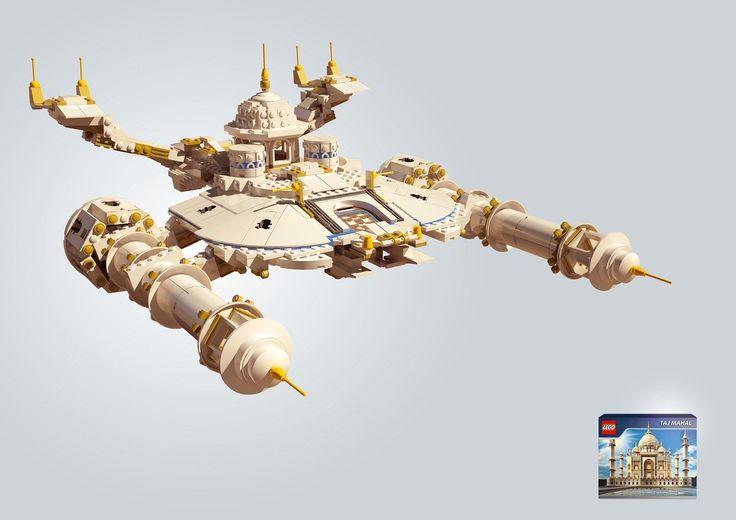 BEST LEGO AD: Lego Adverti, I Observed That The Agency, Taj Mahal, Cannes, Boxes, Leo Burnett, Lego Taj, Lego Ads, Prints Ads