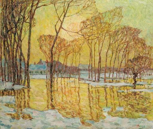 Wacken, Sneeuw en overstrooming, Neige et inondation, Modest Huys. (1874 - 1932)