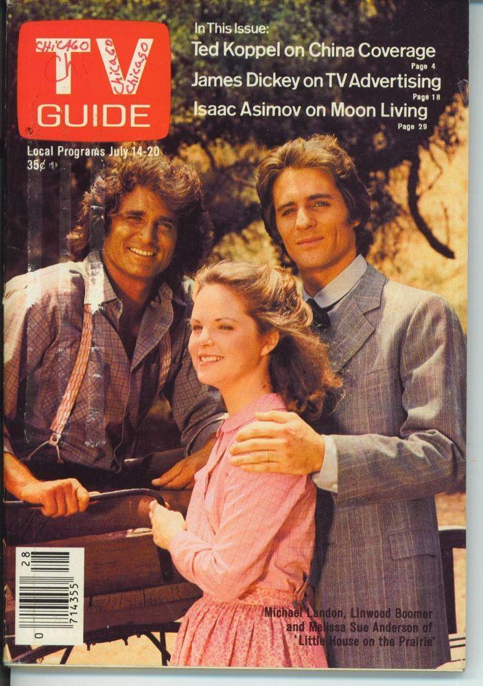 CHICAGO TV GUIDE 7-14-1979 Michael Landon~Phyllis Davis~Ted Koppel~Isaac Asimov