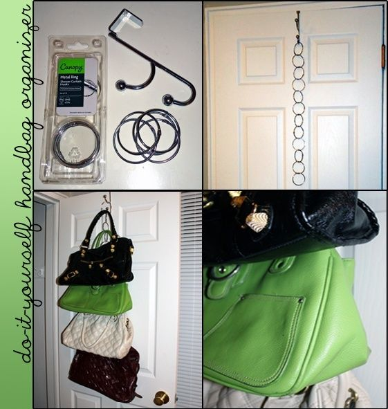 1000 ideas about purse organizer closet on pinterest - How to hang bags in closet ...