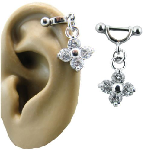 316L-Surgical-Steel-Ear-Cartilage-Stud-Ring-Helix-Shield-Piercing-Flower-16G