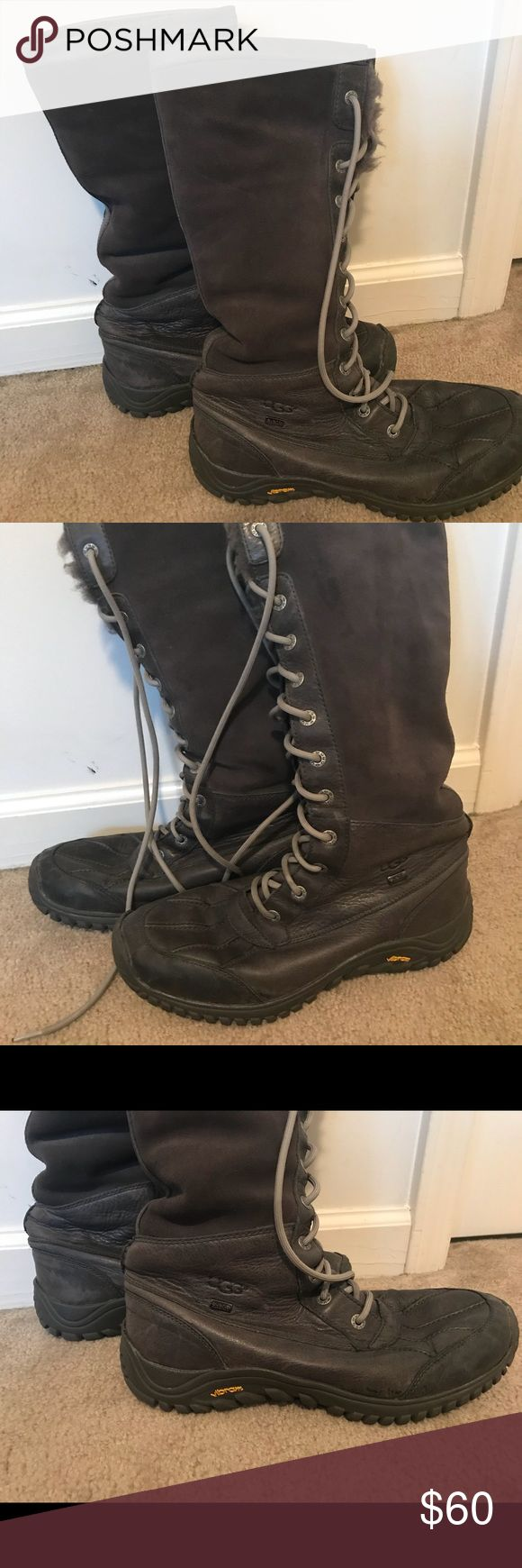 Uggs Adirondack Tall Boots Nice pair with normal wear but lots of wear left. Check out the very gently used replacement foot insert. UGG Shoes Winter & Rain Boots