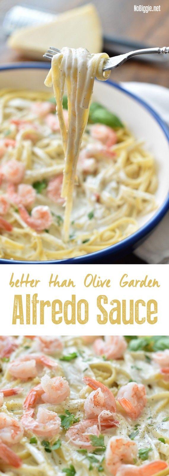 499 best nobiggie recipes images on pinterest kitchens - Better than olive garden alfredo sauce ...