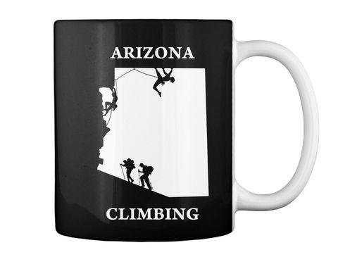 Arizona Climbing Black Mug Back