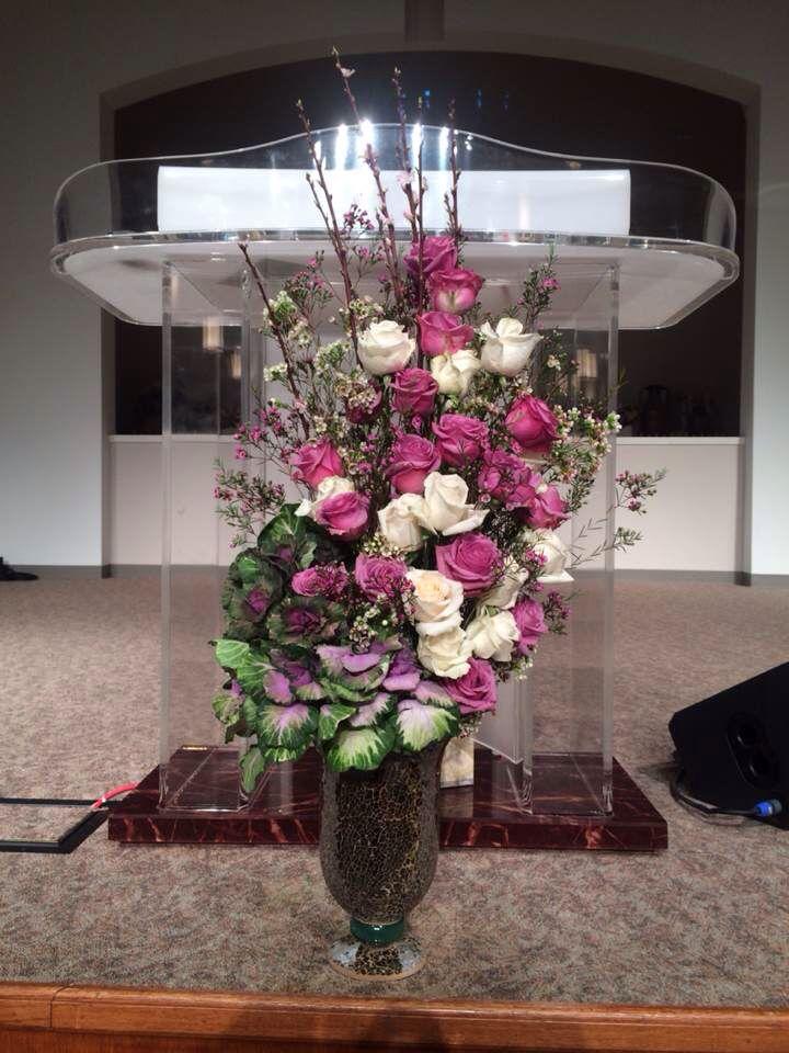 Church flower arrangement Mar. 2, 2014