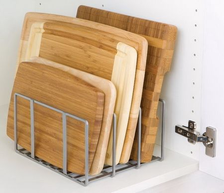 Captivating Seville Classics Cutting Board And Bakeware Organizer