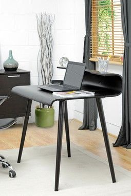 stylish office desk. Atlas Wood Modern Desk With Curved Top - Dark Brown Stylish Office E