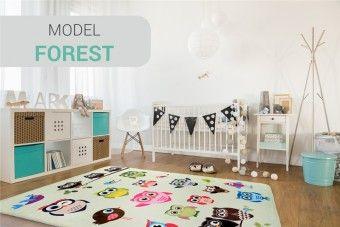 Dětský koberec SOFT OWL FOREST