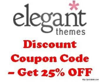 Elegant Themes Coupon code – Get 25% Discount Offer