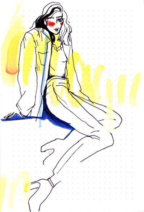 """Day dreamer, night thinker"" fashion illustration 2017"