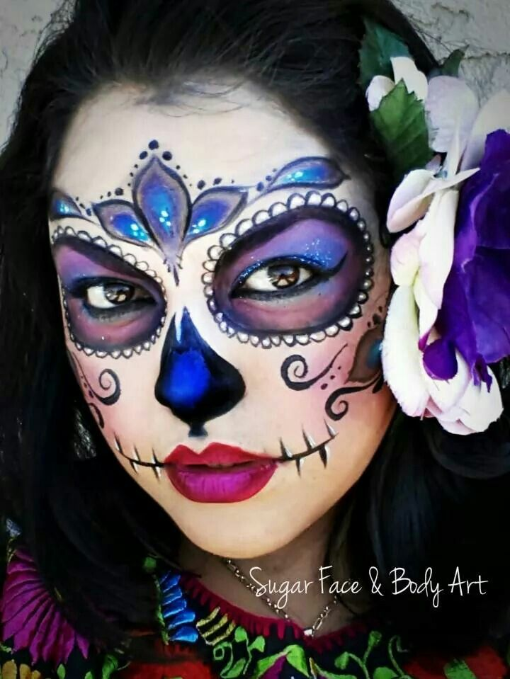 286 best images about face painting sugar skulls cinco de mayo on pinterest sugar skull - Sugar skull images pinterest ...