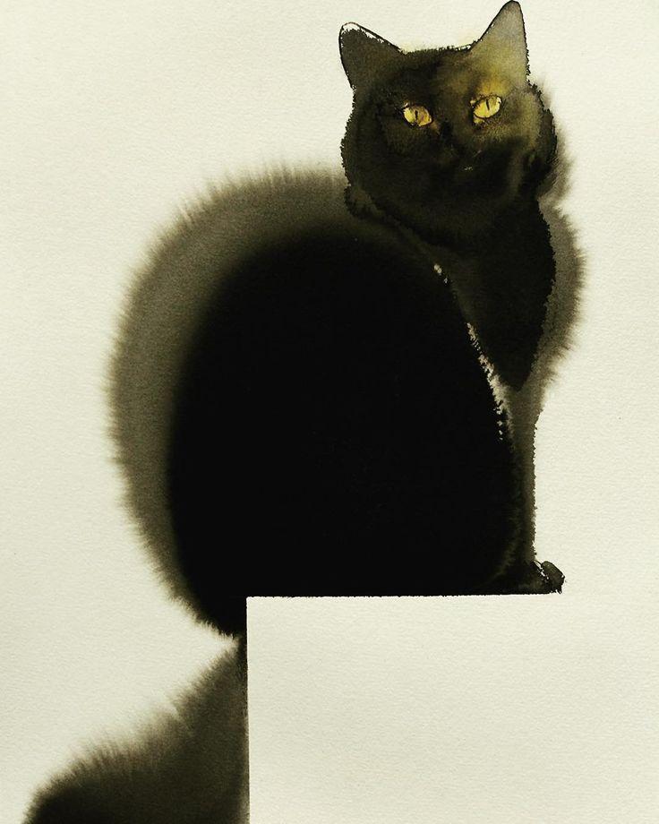 1000 bilder zu aquarell tiere auf pinterest tabbykatzen for Minimal art kunstwerke
