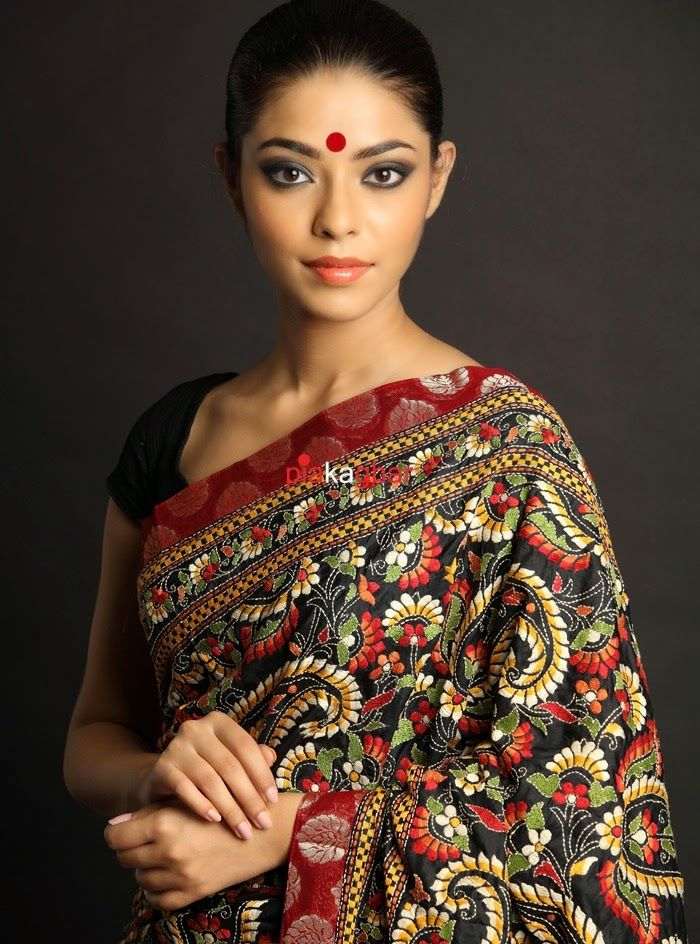 Kantha embroidered Sarees