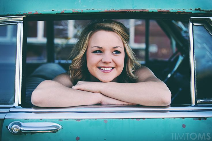 Vintage hipster retro old car senior picture girl pose idea photo photography    www.PhotographyByTimToms.com