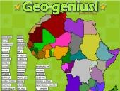 Geo Genius online game - Test your knowledge of Africa, South America, U.S. Asia,