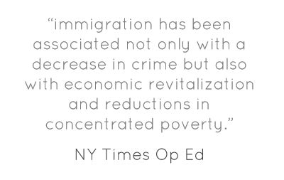 """immigration has been associated not only with a decrease in..."