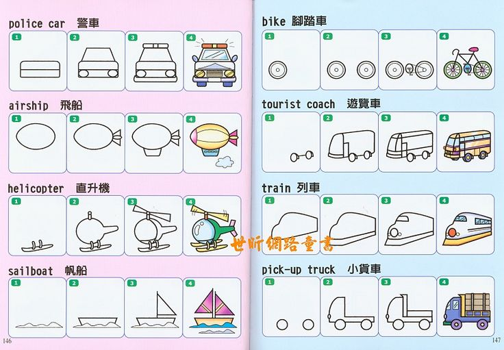 vervoer, tekenen met kleuters, free printable