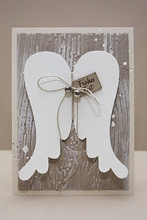 Christmas Cards... angel wings