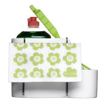 Smarta diskborstehållaren med torkställning för disktrasa passar utmärkt tillsammans med Project redskapsställ och örtkrukorna från Sagaform.