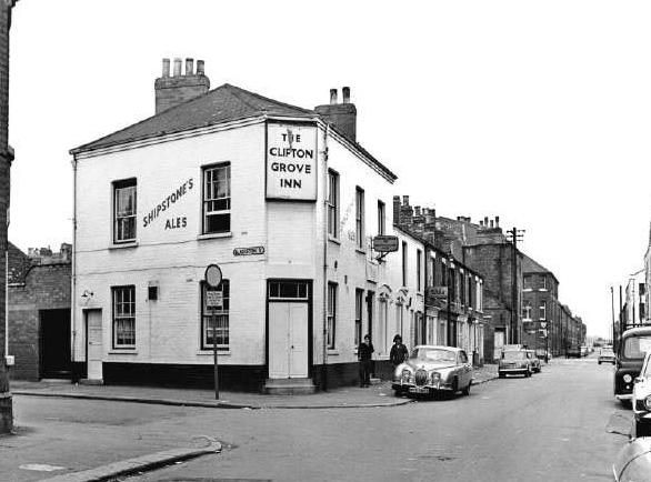 The Clifton Grove Inn was a Shipstones tied house situated on Waterway Street. This pub was demolished in the 1970s. Photo 1973
