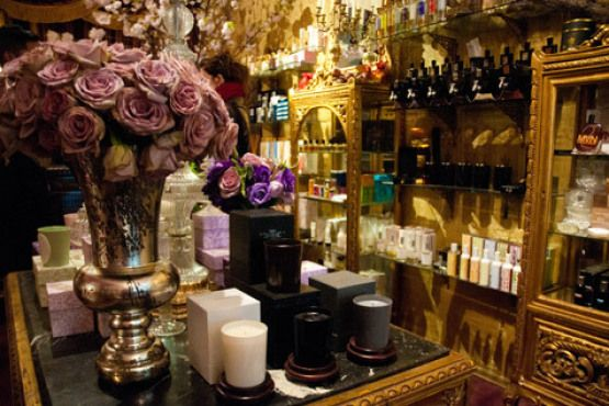 My very favorite perfume shop.....  Aedes  de Venustas..9 Christopher St. New York, NY. ( Greenwich Village) Gorgeous, glamorous  shop... luxury perfumes..  soaps, lotions..Fabulous candles..
