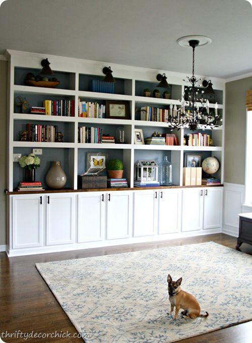DIY built in bookcases