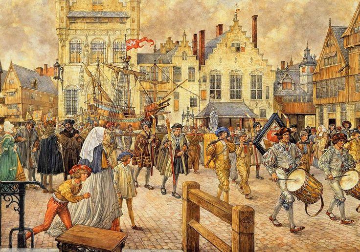 Een Gildenoptocht in Antwerpen, 1520