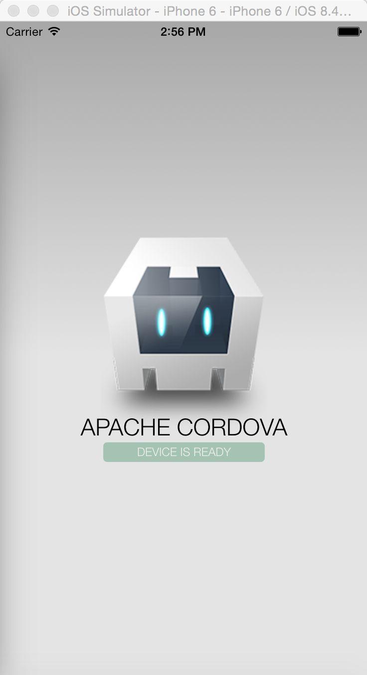 cordova project on ios simulator
