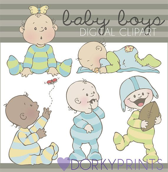Cute Baby Boy Digital Clip Art Set Personal and by DorkyPrints, $3.50