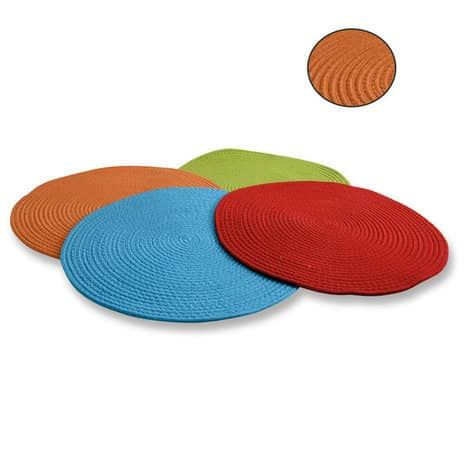 Teppich - orange - rund - Druchmesser 60 cm