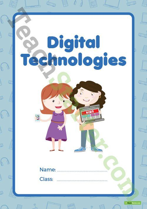Digital Technologies Book Cover – Version 1 Teaching Resource