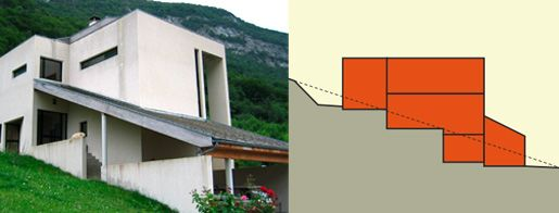 14 best maison sur la pente images on pinterest house blueprints house design and - Maison sur terrain en pente ...