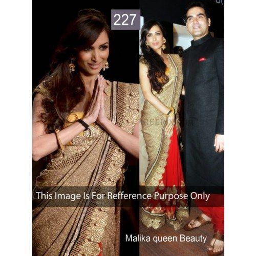 Saree Fabric:Half Bhagalpuri & half Chiffon Blouse Fabric: Dhupian Petticoat: Not Available Work: Embroidery Buttas, Lace Work