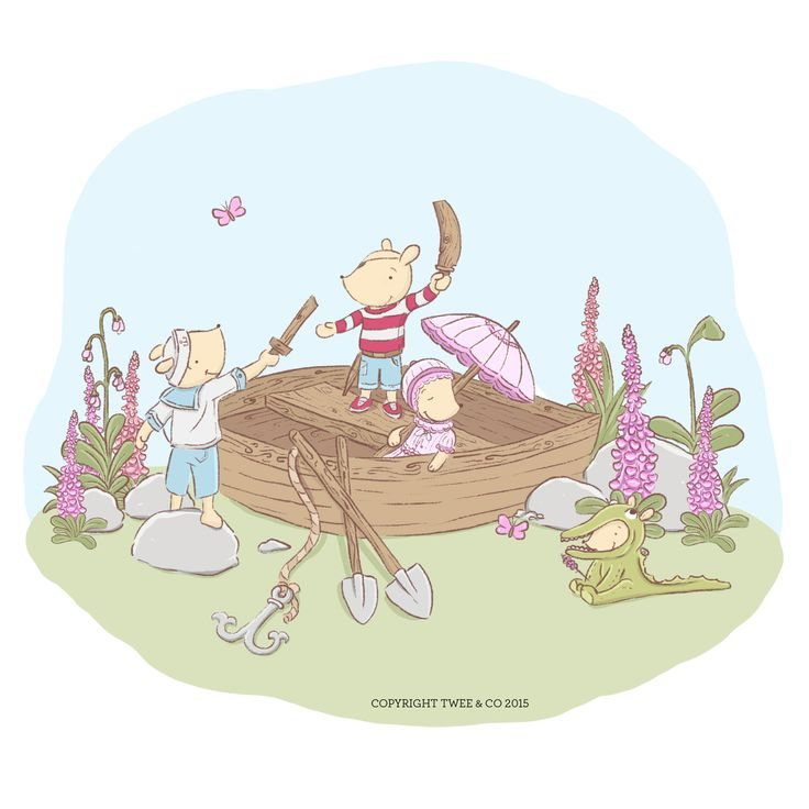 Stranded in Fox Glove Valley! - Illustration by Chelsa Sinclair www.tweeandco.co.nz
