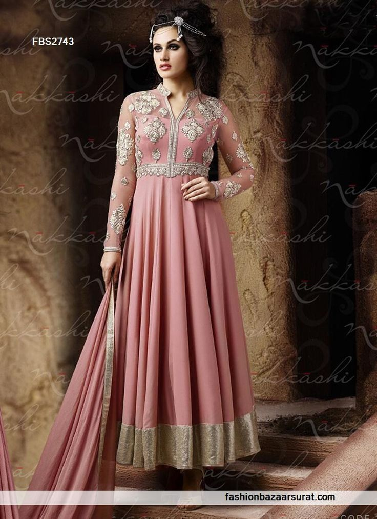 Peach Color Classy Shaded Wedding Anarkali Salwar Suit