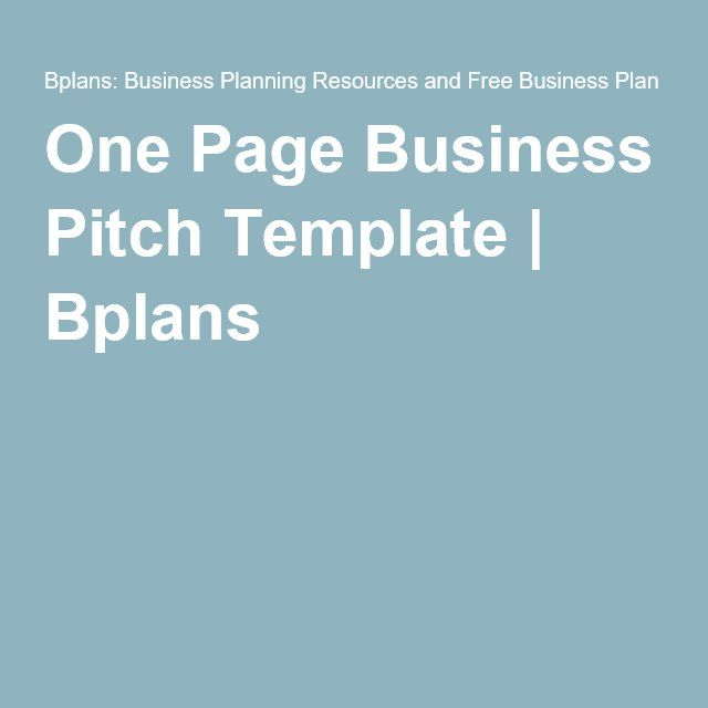 The 25+ best One page business plan ideas on Pinterest