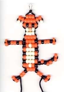 Tiger bead key chain