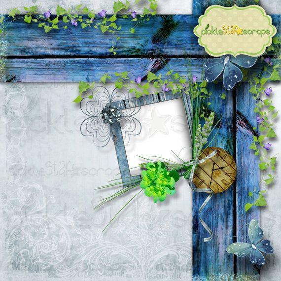 Enchanted  12x12 inch  Digital Scrapbook by PickleStarScraps