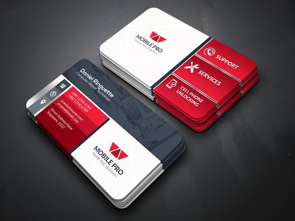 Mobile Repair Business Card Business Cards Creative Templates Business Cards Creative Business Card Template Design