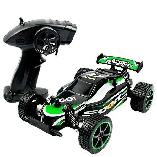 Remote Controll Car Toy Boys High Speed Off Road Vechicle Beach Sand Toys Green #Kbrand