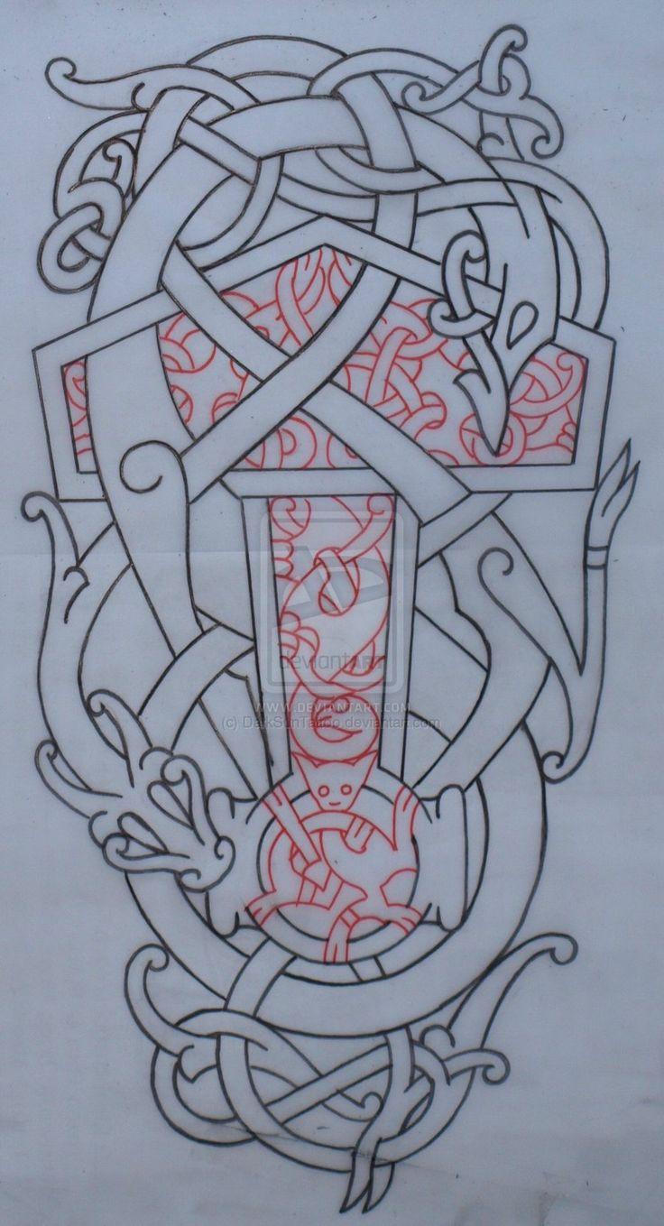 urnes thorshammer by on deviantart viking embroidery pinterest. Black Bedroom Furniture Sets. Home Design Ideas