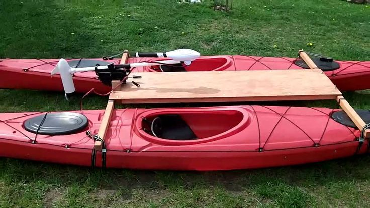Kayak Catamaran with electric trolling motor Haswing Osapian ...