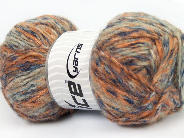 Composition 43% Acrylique 27% Polyamide 15% Mohair 15% Laine Orange Navy Brand ICE Blue Beige fnt2-41167