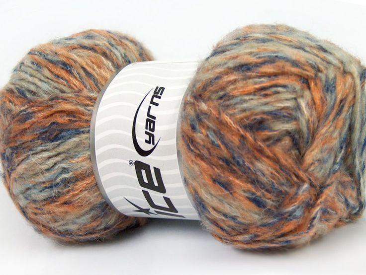 Sonbahar - Kış İplikleri Kışlık Yün Tiftik hantal Mavi Turuncu lacivert Bej  İçerik 43% Akrilik 27% Polyamid 15% Tiftik 15% Yün Orange Navy Brand ICE Blue Beige fnt2-41167