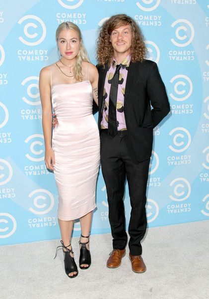 Blake Anderson (R) and wife Rachael Finley attend the Comedy Central Emmys after party at Boulevard3 on September 20, 2015 in Hollywood, California.