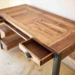 Wood Pallet Desk with Drawers and shelves