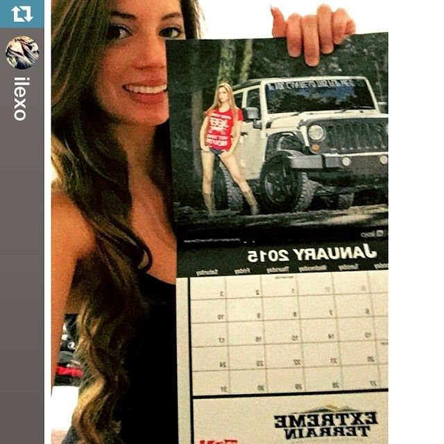 Miss January @ilexo rocks with our 2015 Jeep Girls calendar! http://j.mp/2015JG・・・Heeeey January 2015  Are you starting off the New Year right with one of our Jeep Girl Calendars!?  Links in my...